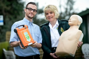 Daniel Evans, Assistant Manager at Coton Hill and Dawn Bush from West Midland Ambulance Service.
