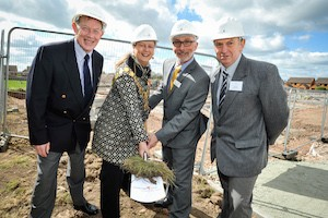 Ken Bean, Mayor of Shrewsbury Beverley Baker, David Coull and Councillor Kevin Pardy.