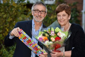 Coverage Care - David Coull and Carole Williams celebrate her retirement from Barclay Gardens.
