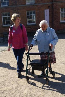 Joan sets out on her charity walk