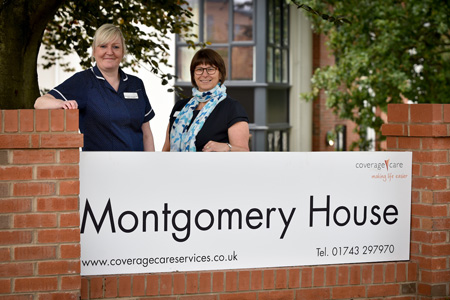 L-R Deputy Manager Michelle Humphries and Manager Tracie Peate prepare to welcome guests to the Montgomery House open days