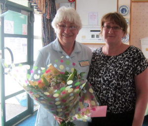 Olive Pritchard who is celebrating 30 years as a care assistant at Stone
