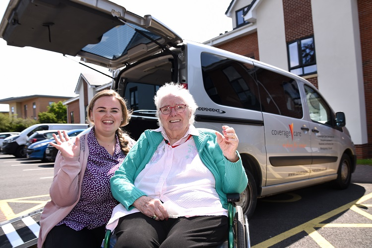 resident and carer from coverage care