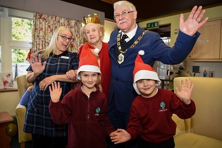 School pupils spread festive cheer at residential home